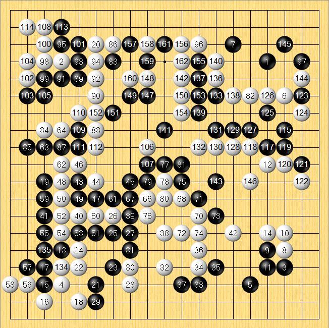 柯洁的围棋棋谱 农心杯最新棋谱图片